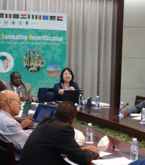 AI-CD Follow-up Meeting at UNCCD COP 13 in Ordos, China ~ 7 Sep. 2017~